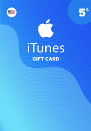 apple itunes gift card 5 usd for