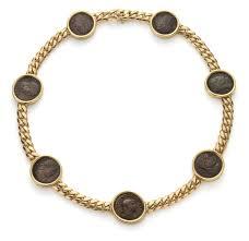 bulgari a gold coin necklace phillips