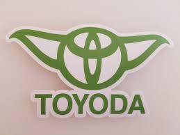 Toyoda 6 X 3 5 Green Die Cut Vinyl Sticker Toyota Yoda Prius Corolla Rav4 Minglewood Trading