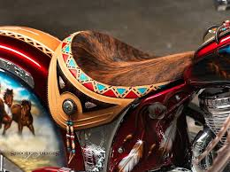 leather exotic skin motorcycle seats