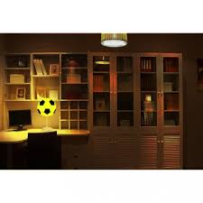 Plastic Football Shape Table Lamp Boys Bedroom Amusement Park Led Table Lighting In White Beautifulhalo Com