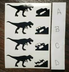 Jurassic Mini T Rex Dinosaur Car Vinyl Sticker Window Decal Windshield Ebay