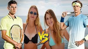 Alexander Zverev Jr Girlfriend Belinda Bencic vs Dominic Thiem Girlfrien...  | Famous sports, Sports gallery, Belinda bencic