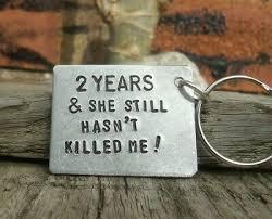 keyring 2nd wedding anniversary gift