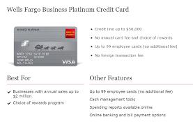 wells fargo business platinum credit