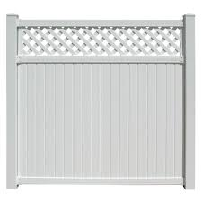 Sixth Avenue Building Products Supplying The World Belfast 6 Ft X 6 Ft White Vinyl Lattice Top Fence Panel Lbp8615 The Home Depot