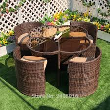 metal frame with pe rattan sectional