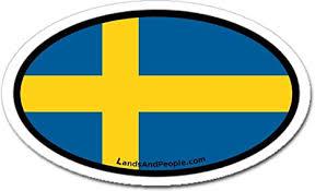 Amazon Com Sweden Swedish Flag Car Bumper Sticker Decal Oval Arts Crafts Sewing