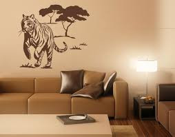 Wild Tiger Animal Wall Decals Sticker Mural Vinyl Art Home Decor Contemporary Wall Decals By Style And Apply
