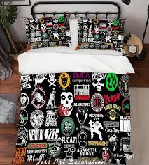 1 3d rock band quilt cover set bedding