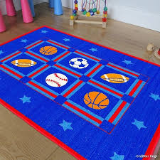 Shop Allstar Rugs Kids Baby Room Area Rug Sports Football Basketball Soccer And Baseball Bright Colors 4 11 X 6 11 Overstock 11530797
