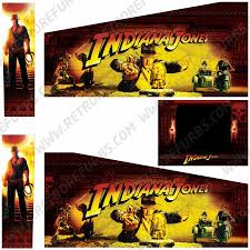 Indiana Jones Stern Pinball Cabinet Decals Retro Refurbs