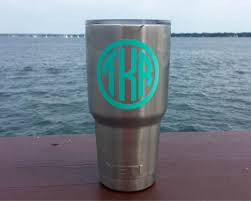 Personalized 30oz Yeti Vinyl Decal Initially Yours
