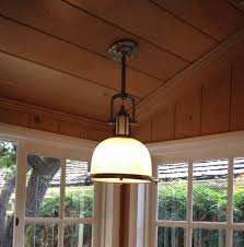 hanging fixture on sloped ceiling