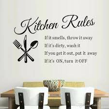 Kitchen Rules Vinyl Sticker Spoon Knife Quotes Decal For Kitchen New Arrival Room Decoration Waterproof Diy Murals Wall Stickers For Girls Wall Stickers For Home From Onlinegame 9 86 Dhgate Com