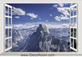 3d Yosemite National Park California Usa Mountains Window Wall Sticker Art Decal Idcch Ls 003882 Sticker Wall Art California National Parks Window Wall