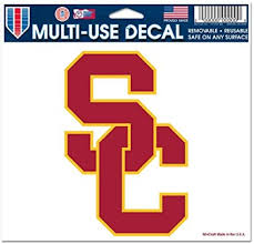 Amazon Com Wincraft Usc Trojans Removable 5 X6 Car Decal Sports Fan Automotive Decals Sports Outdoors