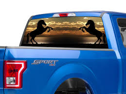 Sec10 F 150 Perforated Stallion Rear Window Decal T542472 97 20 F 150