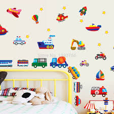 Kid Cartoon Car Plane Wall Stickers For Kid S Room Wall Decals Children S Room Nursery Decorative Wall Sticker Diy Wallpaper In Wall Stickers From Home Garden On Aliexpress Com Alibaba Group