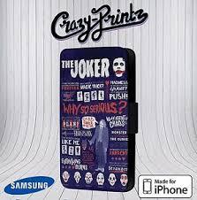 joker quotes batman harley quinn fits iphone samsung leather flip