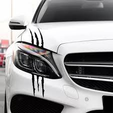 Vova 40cm 12cm Auto Car Sticker Reflective Monster Claw Scratch Stripe Marks Headlight Decal Car Stickers