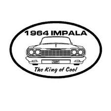 Chevy Impala 1964 King Of Cool Window Sticker Decal Hot Rod Ebay