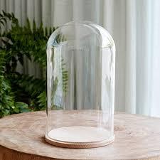 lights4fun large glass bell jar dome