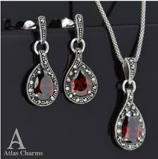 925 sterling silver earrings garnet