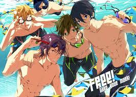 free anime swimming men boys