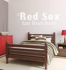 Red Sox Fan Lives Here Vinyl Decor Wall Decal Customvinyldecor Com