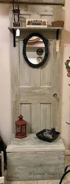 antique door hall tree for