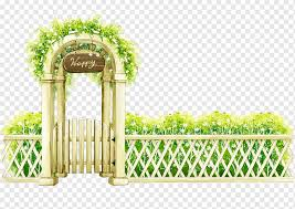 Garden Art Landscape Painting Design Watercolor Painting Outdoor Structure Fence Png Pngwing