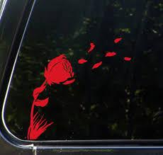 The Decal Store Com By Yadda Yadda Design Co Car Rose In The Wind Car Vinyl Decal Sticker C Yydc 7 5 W X 7 H