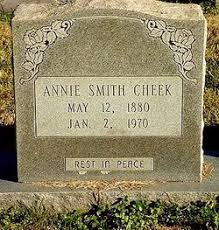 Annie Eula Smith Cheek (1880-1970) - Find A Grave Memorial