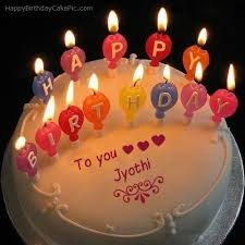 candles happy birthday cake of jyothi happy birthday cake images