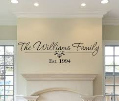 Family Name And Established Date Wall Decal Custom Wall Decals In Decors