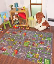 Children S Rugs Town Road Map City Rug Play Village Mat For Kids Boys Girls New Ebay Childrens Rugs City Rugs Map Rug