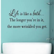 Vwaq Life Is Like A Bath Wall Decal Bathroom Wall Quotes Sayings Vinyl Wall Art Home Decor Walmart Com Walmart Com