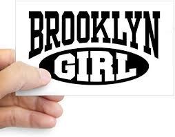 Amazon Com Cafepress Brooklyn Girl Rectangle Sticker Rectangle Bumper Sticker Car Decal Home Kitchen