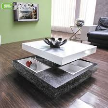 china luxury rotatable square glass top