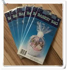 clear basket bags clear cellophane wrap