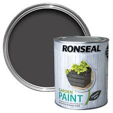 Ronseal Garden Paint 750ml Charcoal Grey Free Uk Delivery