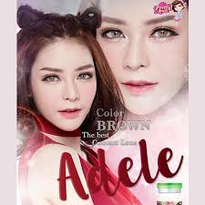 Pretty Adele Brown | Softlens Queen - Natural Colored Contact Lenses