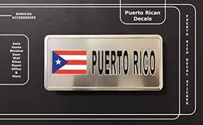 Amazon Com Puerto Rico Flags For Cars Accessory Puerto Rican Flag Stickers Decal Pr Boricua Accessories Mini License Car Home Accessory Automobile Interior Window Glass Door Room Metal Decal Stickers Flag Mount Arts