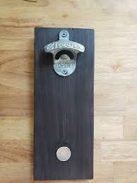 solid wood wall mounted bottle opener