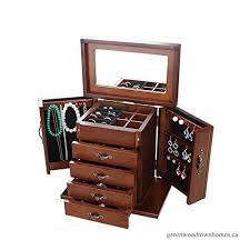 xmas gifts jewelry storage box wood