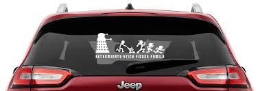 Dalek Will Exterminate Your Stick Figure Family Vinyl Decal Anti Stick Figure Decals