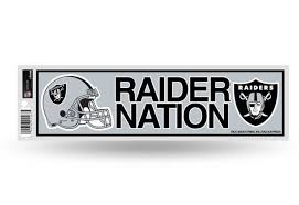 Nfl Football Raider Nation Las Vegas Raiders Bumper Sticker Officially Licensed Custom Sticker Shop