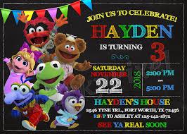 Muppet Babies Invitation Muppet Babies Birthday Muppet Babies