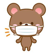 マスクをしたクマさんのイラスト | 無料のフリー素材 イラストエイト
